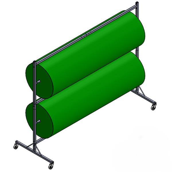 Dévidoir présentoir 2 rouleaux de gazon synthétique
